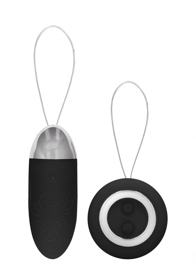 Luca - Rechargeable Remote Control Vibrating Egg - Black