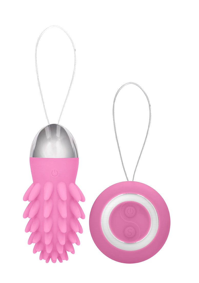 Mason - Rechargeable Remote Control Vibrating Egg - Pink