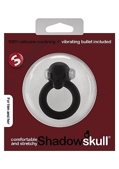 Cock Ring - Shadow Skull Cockring - Zwart - S-Line