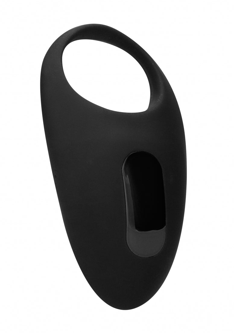 No. 74 - Remote Controlled Vibrating Cock Ring - Black