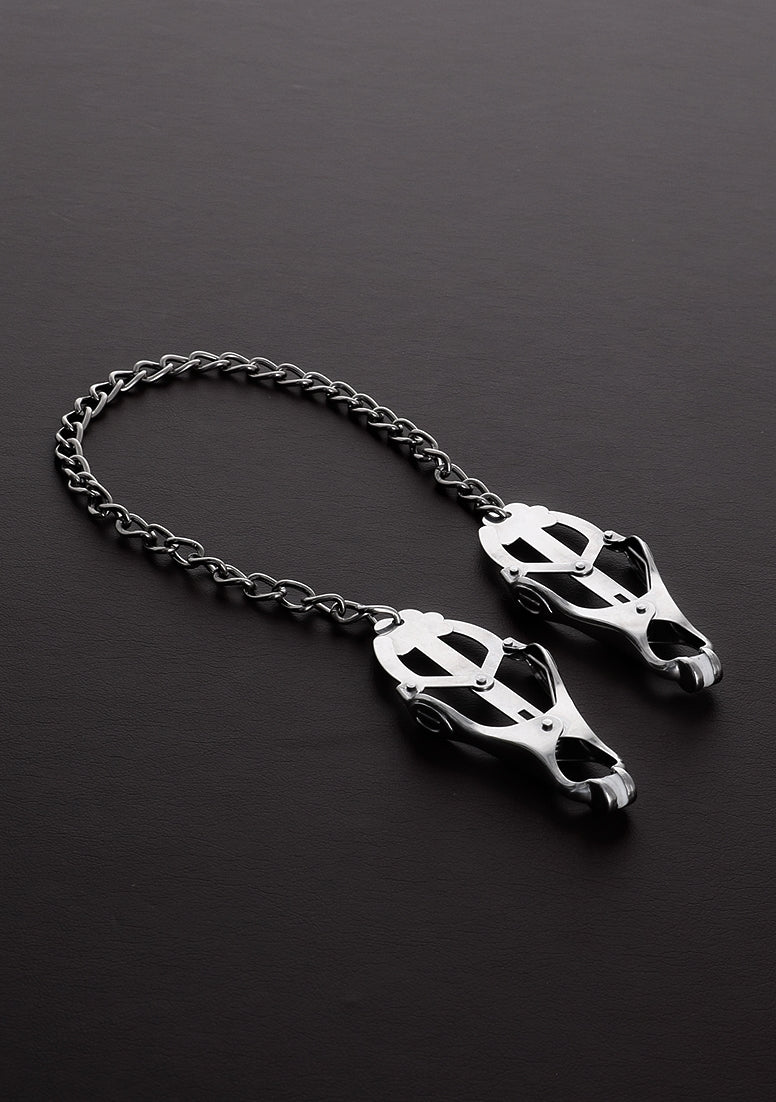 Clover Nipple Clamp with Chain