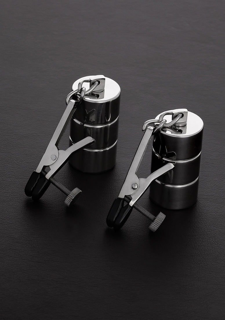 2 Adjustable Nipple Clamps+Changable Weights