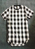 Chequered Longline T-Shirt - rulesfitness