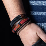 Retro Leather Metal Bangles - rulesfitness