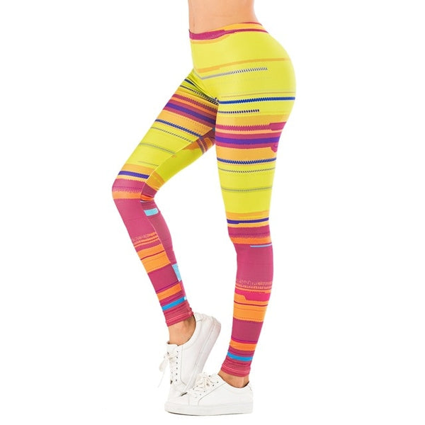 Shiny Cross Stripes Leggings - rulesfitness