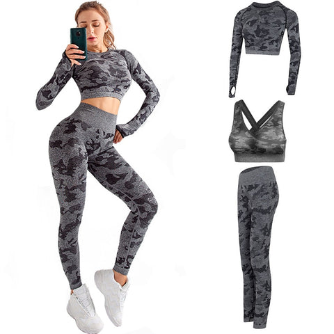 Camouflage 3 Pcs Fitness Set