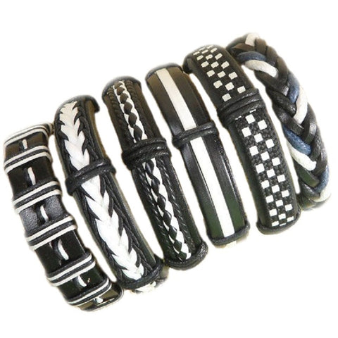 Unisex Black And White Bracelet