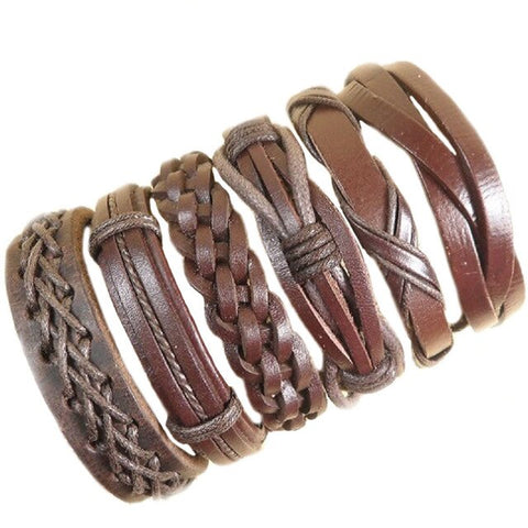 Brown 6Pcs/Set Bracelet