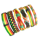 6Pcs/Set Colorful Leather Bracelet - rulesfitness