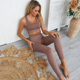Leggings And Sport Bra Set - rulesfitness