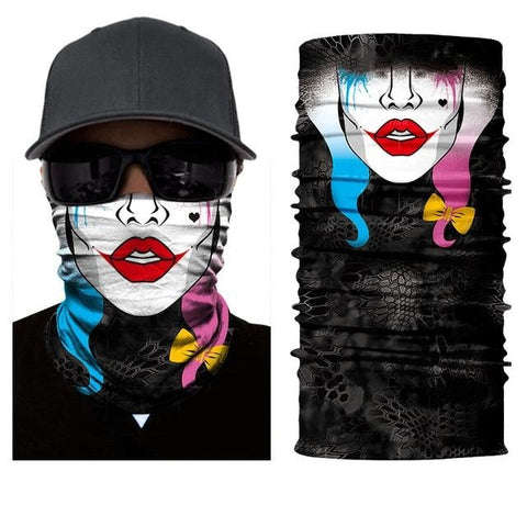 Tube Scarf With Girls Face Picture