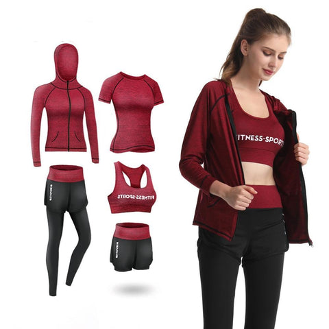 5Pcs Women Fitness Set - rulesfitness
