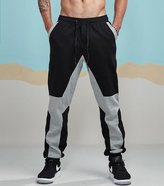 Dual Coloured Patchwork Sweatpants - rulesfitness
