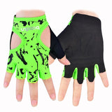 Neon Pattern Gym Gloves - rulesfitness
