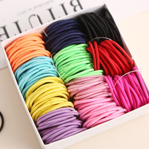 100Pcs/Lot Rubber Hair Band - Rulesfitness