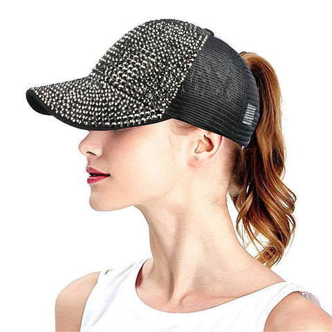 Shiny Rhinestone Baseball Cap - rulesfitness