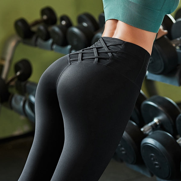 Crossed Straps Leggings - rulesfitness