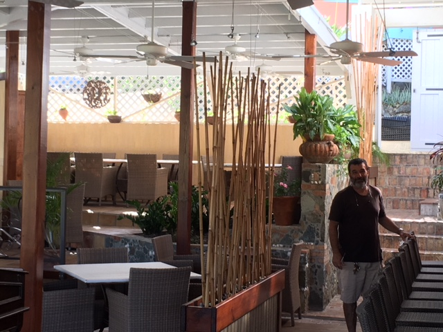 Owner Carlos DiBlasi in the fabulous new interior
