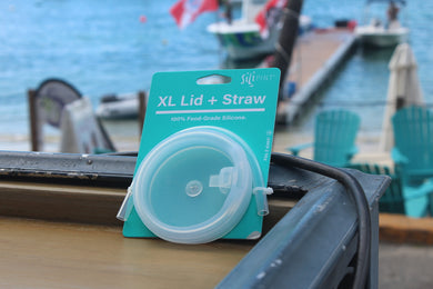 SiliPints, XL Lid & Straw