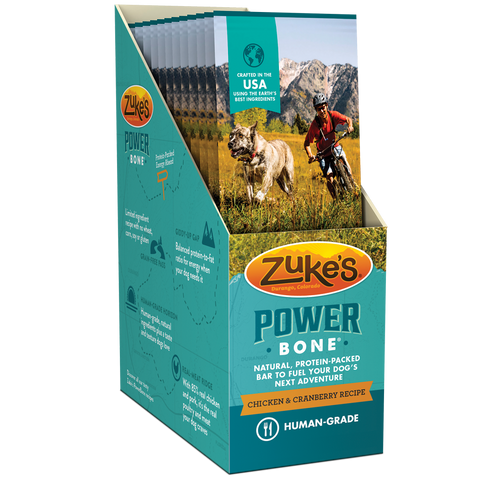 Zukes Power Bone Grain Free Chicken & Cranberry Flavor Dog Treats
