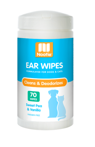 Nootie Sweet Pea & Vanilla Ear Wipes For Dogs & Cats