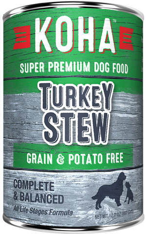 KOHA Grain & Potato Free Turkey Stew Canned Dog Food