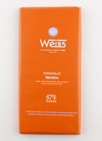 Chocolat Noir Ibaria Orange tablette