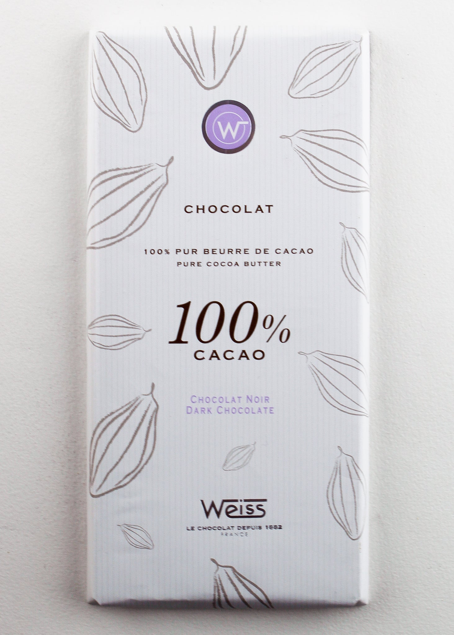 Chocolat 100% Cacao tablette
