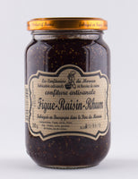DISPONIBLE AU MOULIN -  Confiture Figues Rhum Raisin - 38o g