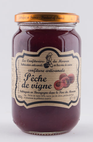 DISPONIBLE AU MOULIN -  Confiture Pêche de Vigne - 380 g