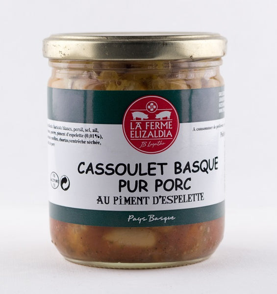 DISPONIBLE AU MOULIN -  Cassoulet basque pur porc - 380 g