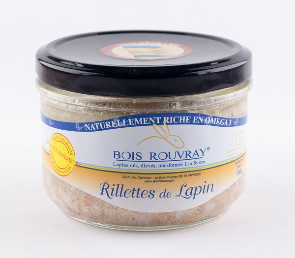 DISPONIBLE AU MOULIN -  Rillette de Lapin - 180 g