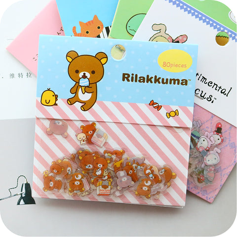80Pcs/Pack Kawaii Sticker
