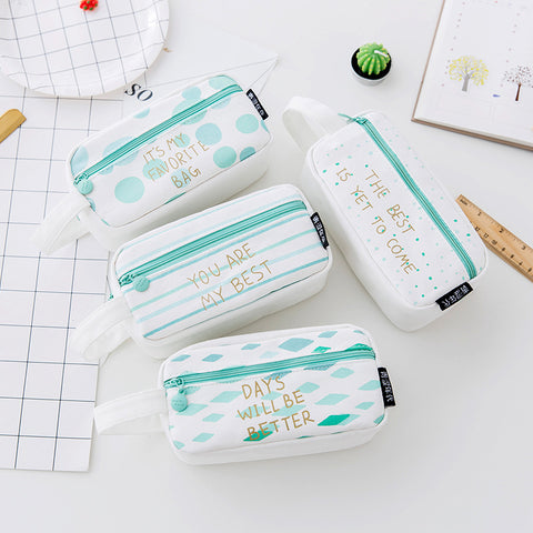 Blue Pencil case for Girls Boys