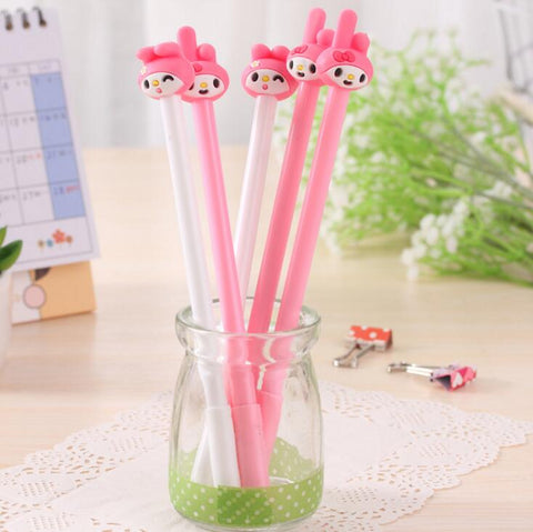 4Pcs/lot Sweet Pink Melody Gel Ink Pen