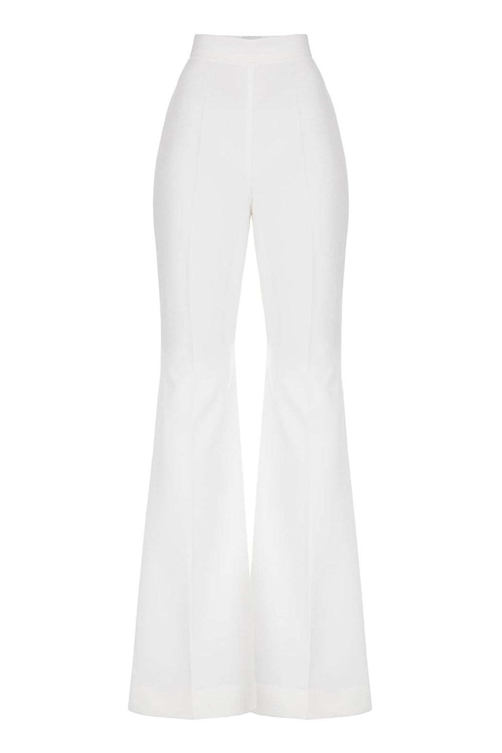Milky flared trousers