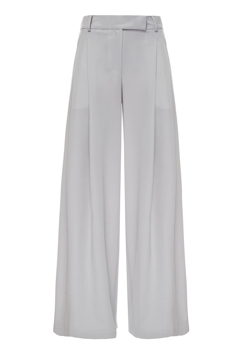 Wide-leg gray trousers