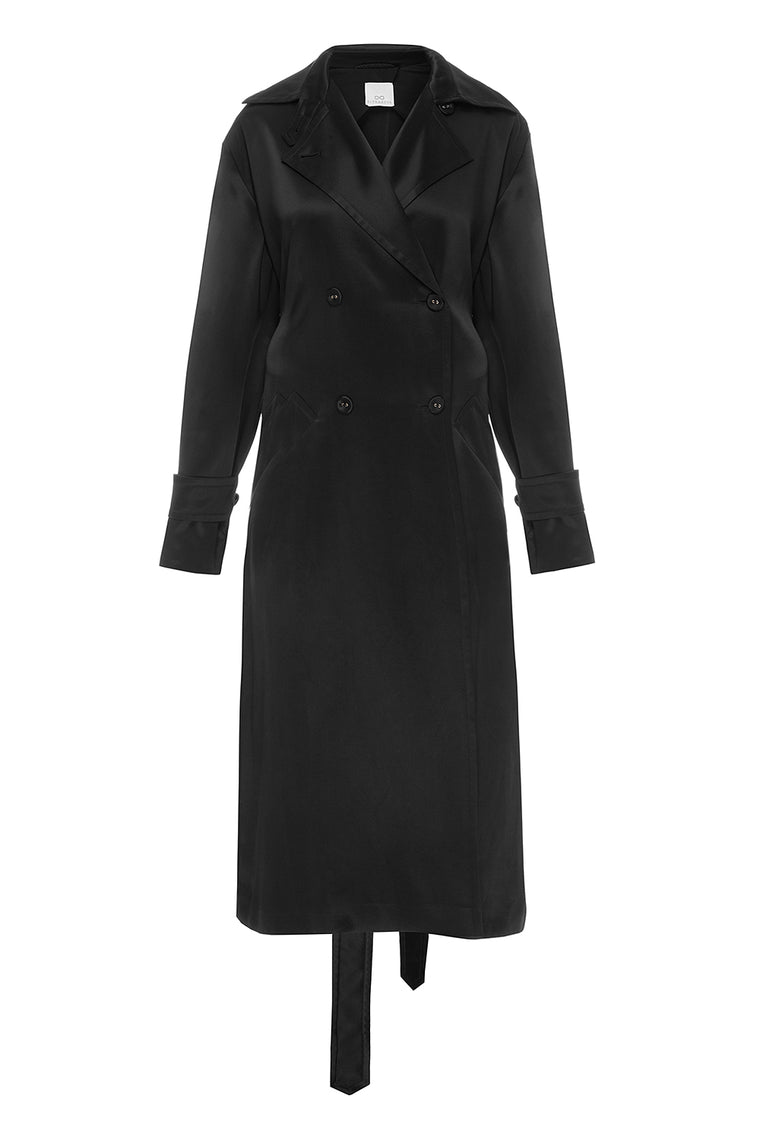 Classic black trench coat