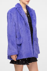 Purple fur coat