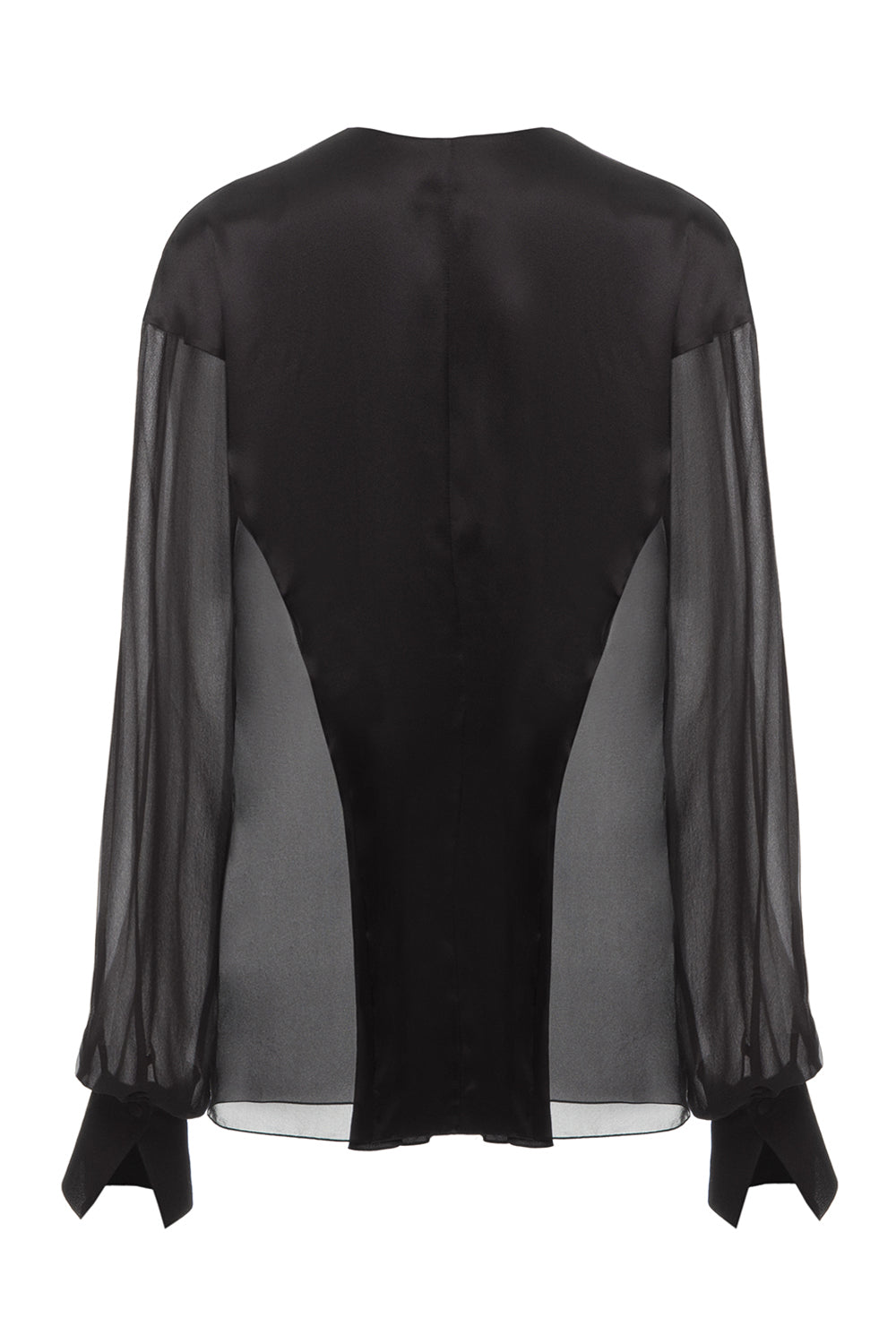 Chiffon blouse with silk inserts