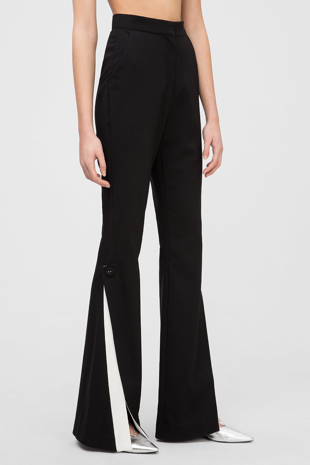 Contrast flared pants