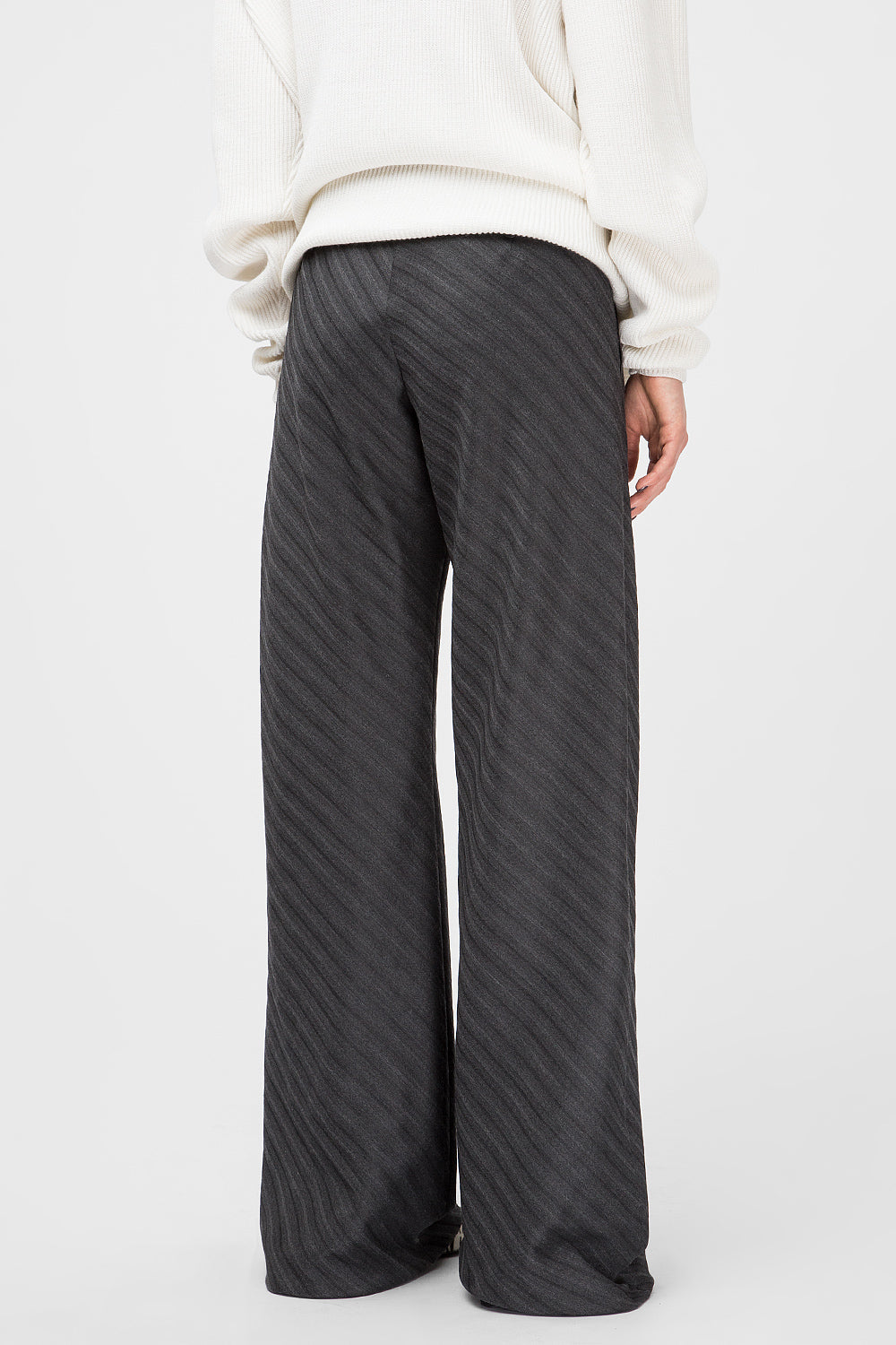 Wide-leg striped pants