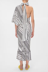 Silk striped dress