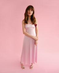 Pink silk sleep dress