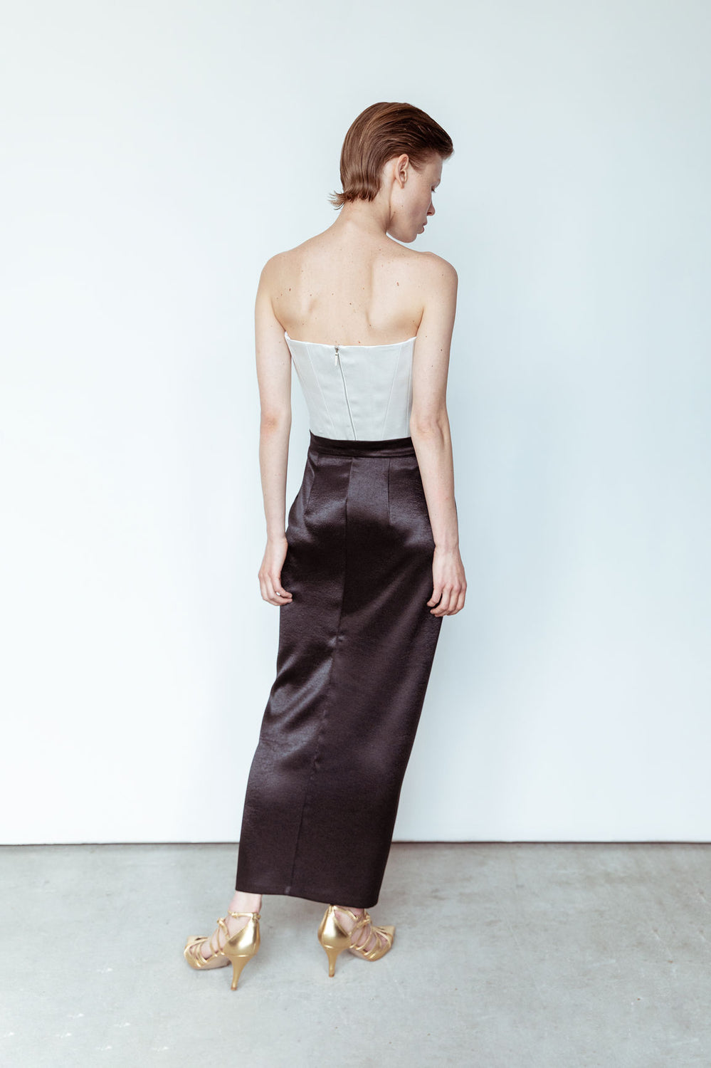 Wrap silk skirt