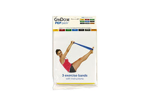 CanDo exercise band PEP packs of 3