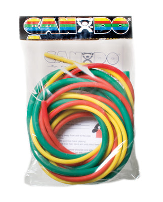CanDo Latex Free Exercise Tubing PEP packs of 3