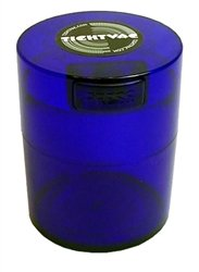 Tightvac Minivac Vitavac-Pocket Vacuum Sealed Pill Box and Vitamin Container, 1 Ounce / 0.12 Liter, Blue Tint Cap / Blue Tint Body with free BB sticker