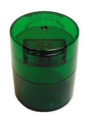Tightvac Minivac Vitavac-Pocket Vacuum Sealed Pill Box and Vitamin Container, 1 Ounce / 0.12 Liter, Green Tint Cap / Green Tint Body with free BB sticker