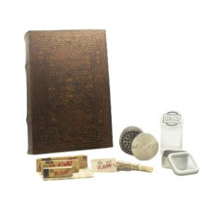 XL Celtic Eternity Stash Book Box Bundle - 9 pc. Bundle, RAW Smoke Accessories, Stash Box...